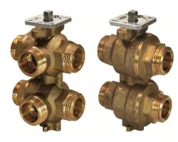 6-ходовые регулирующие шаровые клапаны VWG